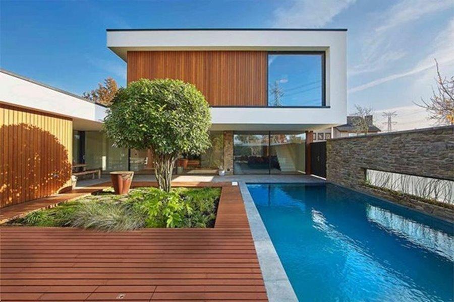 infinium schuifraam van moderne villa