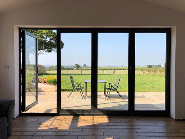 bifold door with a great view