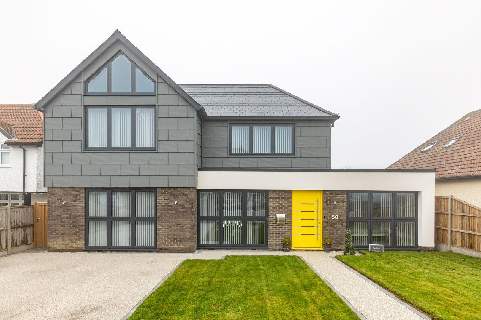 Modern coastal home with aluminium windows and doors