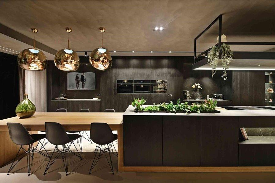 moderne keuken met luxueuze uitstraling