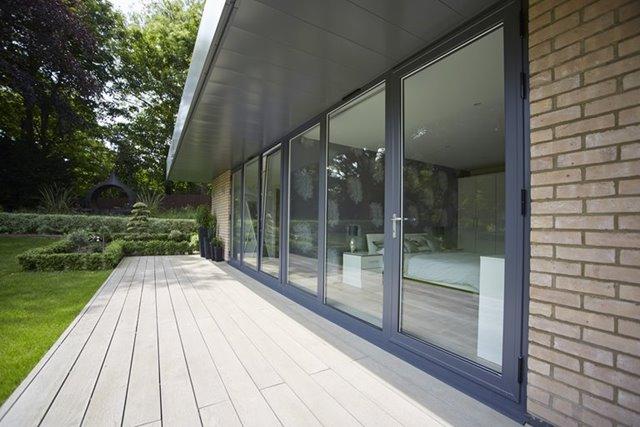 Beautiful house with aluminium french doors