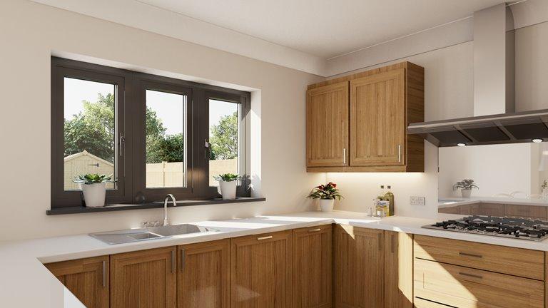 Modern and beautiful house with aluminium windows