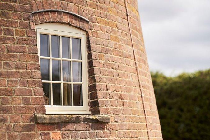 Aluminium windows beautifully compliment period property
