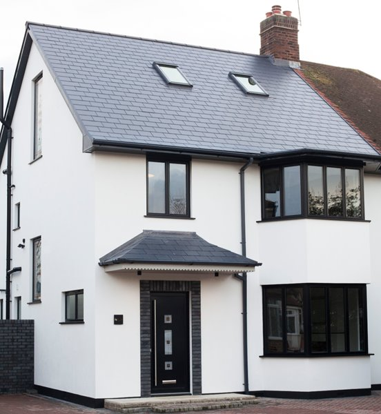 Modern semi-detached house with AluK windows