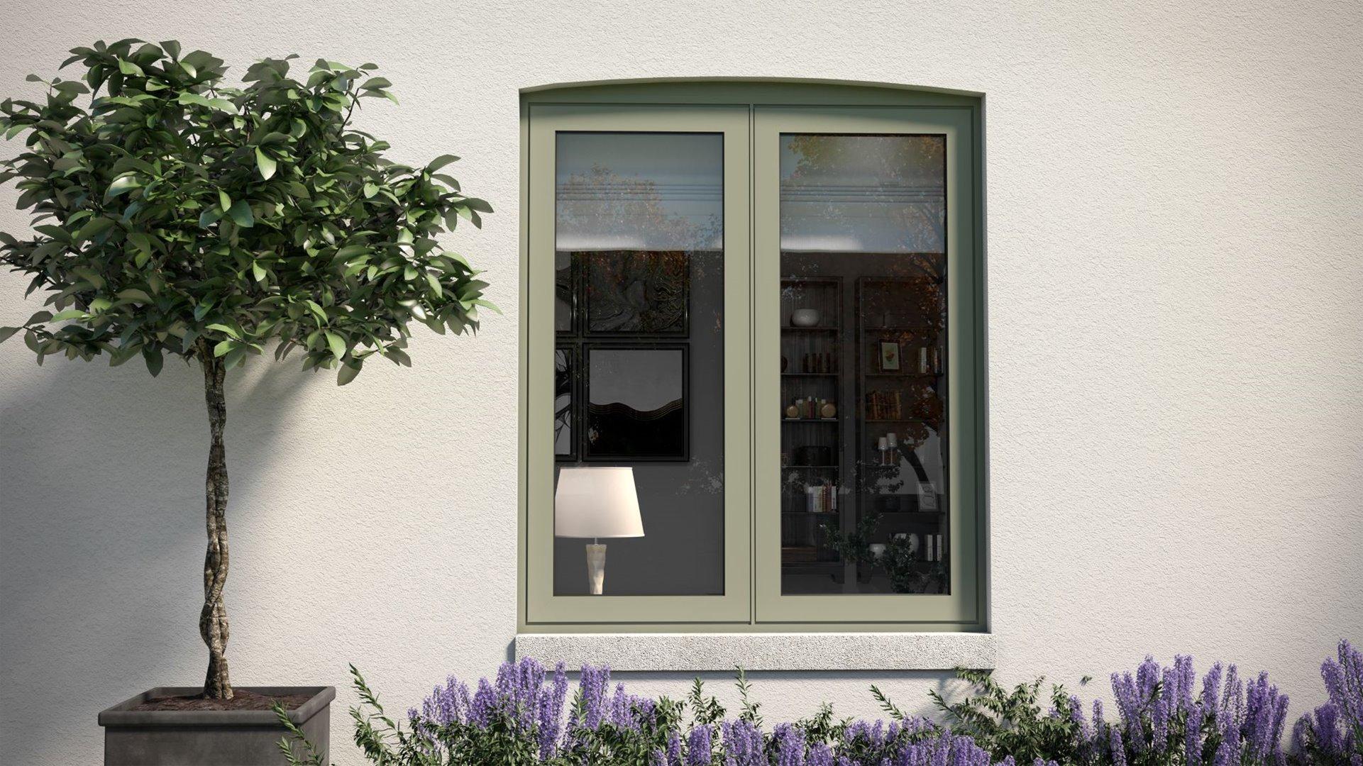 58BW Flush aluminium window with minimal sightlines